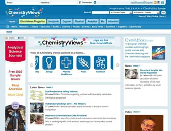 Main page screenshot of chemistryviews.org