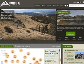hikingproject.com screenshot