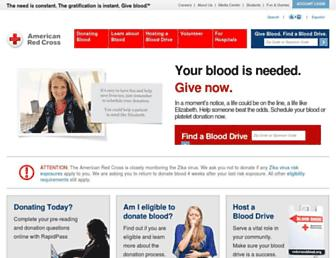 Thumbshot of Redcrossblood.org