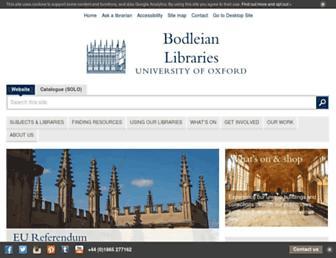 bodleian.ox.ac.uk screenshot