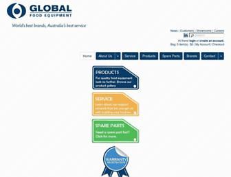globalfoodequipment.com.au screenshot