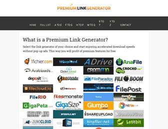 ww.premiumlinkgenerator.com screenshot