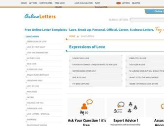 loveletters.brainmeasures.com screenshot