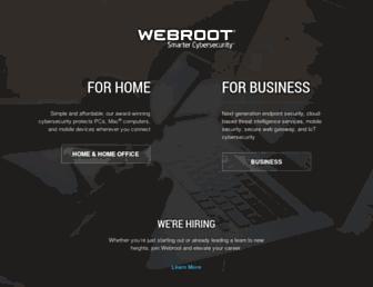 webroot.com screenshot