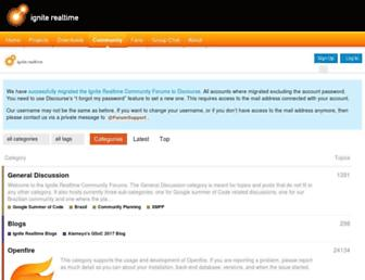 discourse.igniterealtime.org screenshot