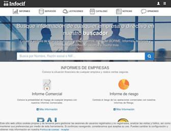 infocif.es screenshot