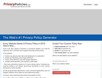 privacypolicies.com screenshot