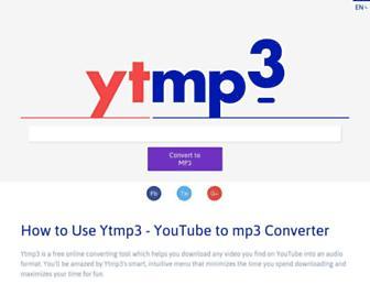 ytmp3.com screenshot