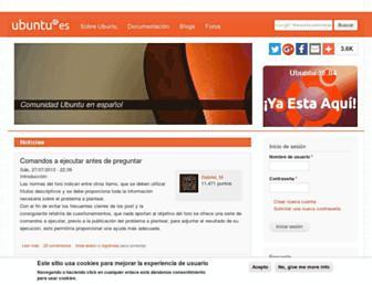 Thumbshot of Ubuntu-es.org