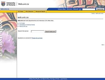 web.uvic.ca screenshot