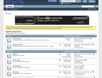 Main page screenshot of forum.caithness.org
