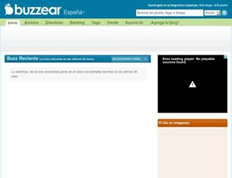 Main page screenshot of es.buzzear.net