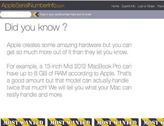 Thumbshot of Appleserialnumberinfo.com