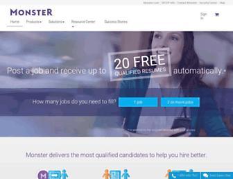 hiring.monster.com screenshot