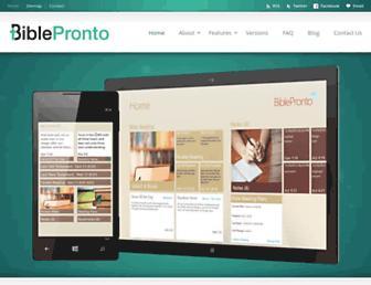 biblepronto.com screenshot
