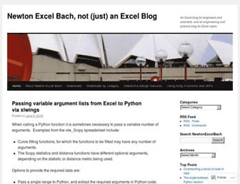newtonexcelbach.com screenshot