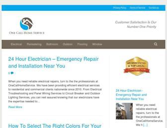 Screenshot for onecallhomeservice.com