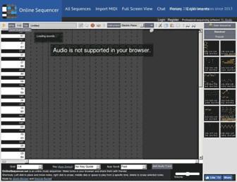 onlinesequencer.net screenshot
