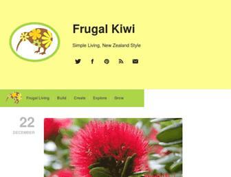 Main page screenshot of frugalkiwi.co.nz