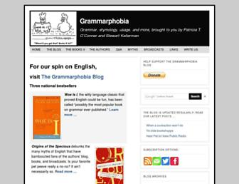 Thumbshot of Grammarphobia.com