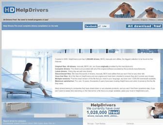 helpdrivers.com screenshot