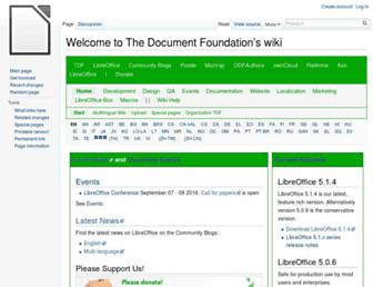 wiki.documentfoundation.org screenshot