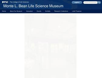 Main page screenshot of mlbean.byu.edu