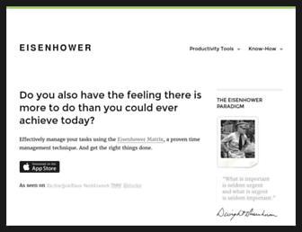 eisenhower.me screenshot