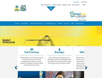 Main page screenshot of bharatpetroleum.in