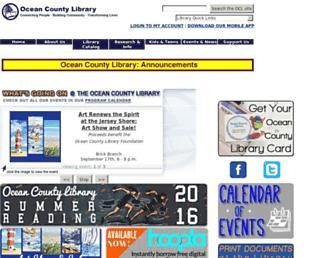 Thumbshot of Theoceancountylibrary.org