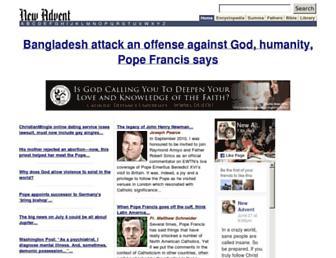 newadvent.org screenshot