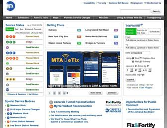web.mta.info screenshot