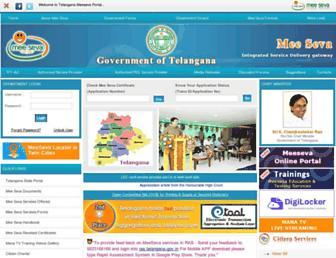 tg.meeseva.gov.in screenshot