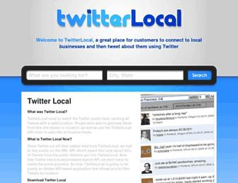 Main page screenshot of twitterlocal.net