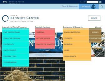 Main page screenshot of kennedy.byu.edu