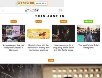 Main page screenshot of stylist.co.uk