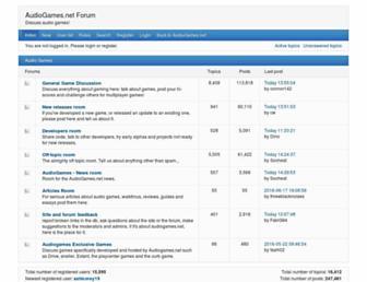 forum.audiogames.net screenshot