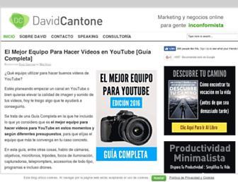 davidcantone.com screenshot