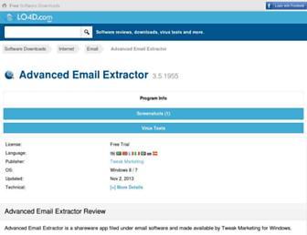 advanced-email-extractor.en.lo4d.com screenshot