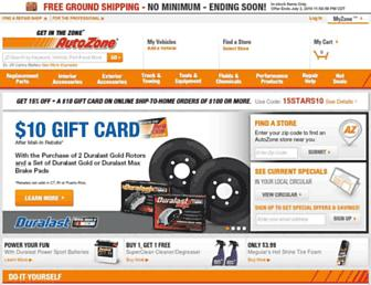 autozone.com screenshot