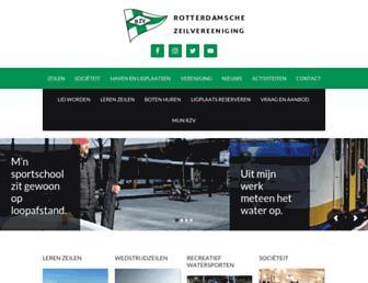 Main page screenshot of rzv.nl