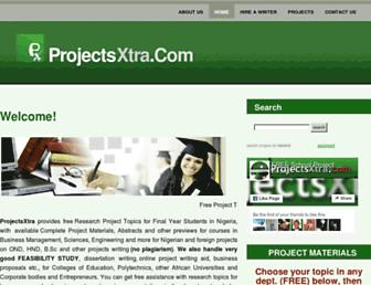 projectsxtra.com screenshot