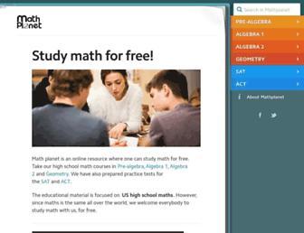mathplanet.com screenshot