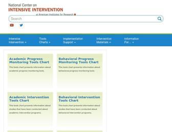 charts.intensiveintervention.org screenshot