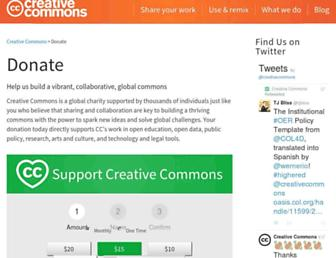 Main page screenshot of support.creativecommons.org