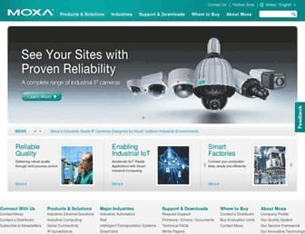moxa.com screenshot