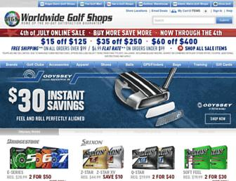 worldwidegolfshops.com screenshot