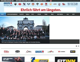 Main page screenshot of erstebankliga.at