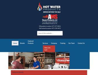 hotwaterproducts.com screenshot