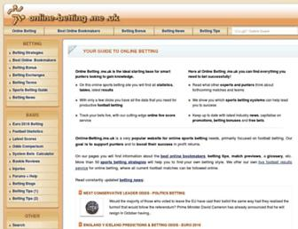 Main page screenshot of online-betting.me.uk